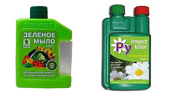 Зелёное мыло и Insect Killer