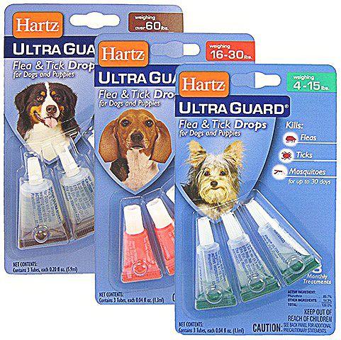 Капли Hartz от блох для собак