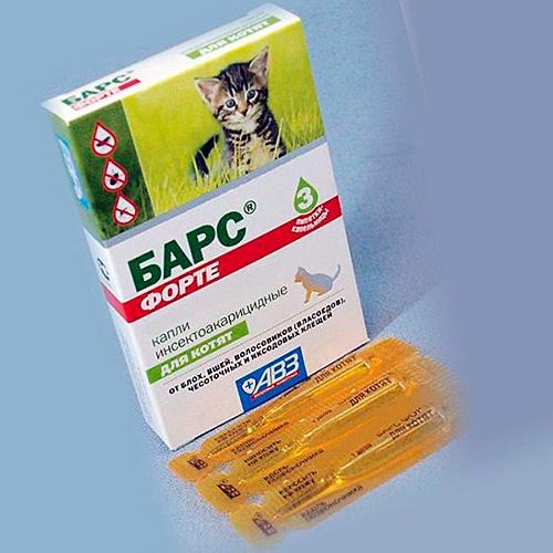 Для детенышей животных применяется отдельный препарат
