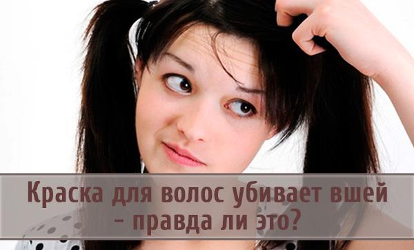 Краска для волос: способна ли она уничтожить вшей?