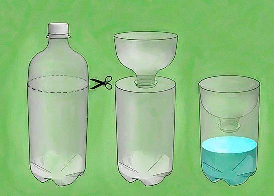 Несложно сделать ловушку из пластиковой бутылки