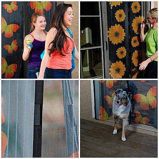 Современные москитные сетки сами закрываются за прошедшим в дверь человеком или домашним животным
