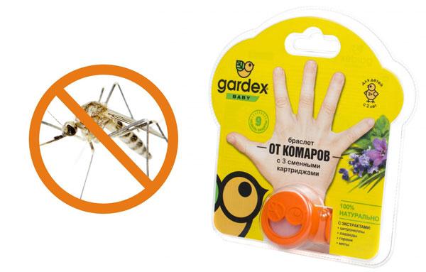 браслет против комаров фирмы гардекс
