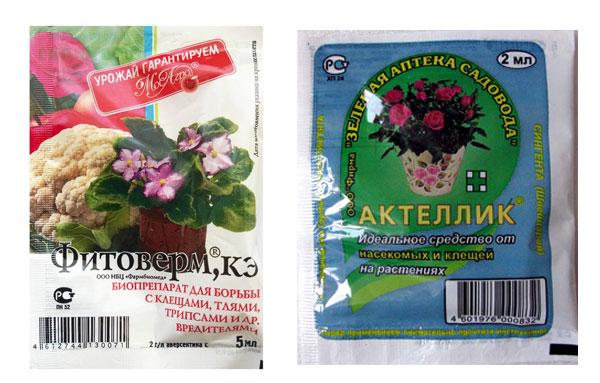 Химические средства от мошек в цветочных горшках