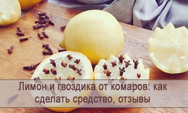 Средство от комаров из лимона и гвоздики, отзывы
