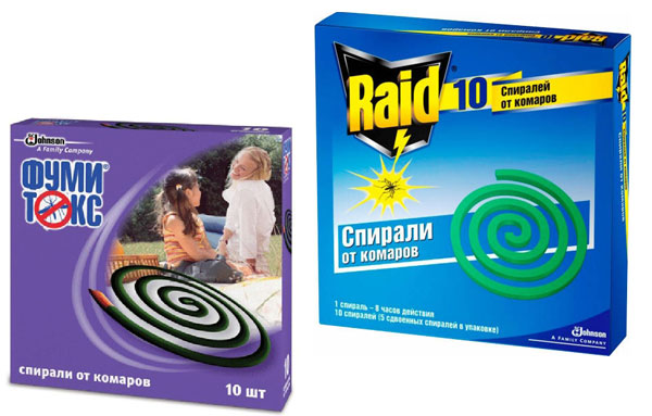 спирали против комаров рейд и фумитокс