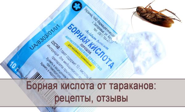 Инструкция по применению борной кислоты от тараканов, рецепты, отзывы