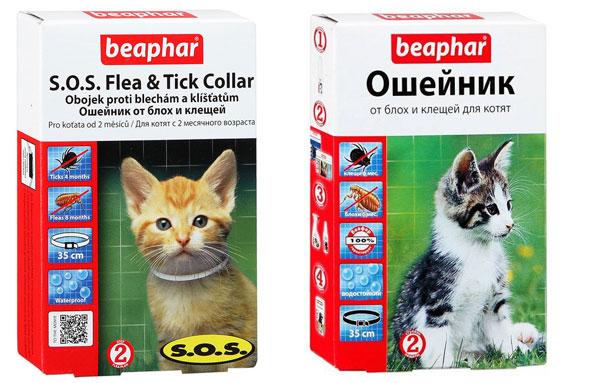 Ошейники от блох для котят