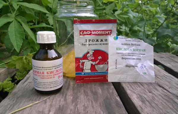 Борная кислота, дрожжи и мед