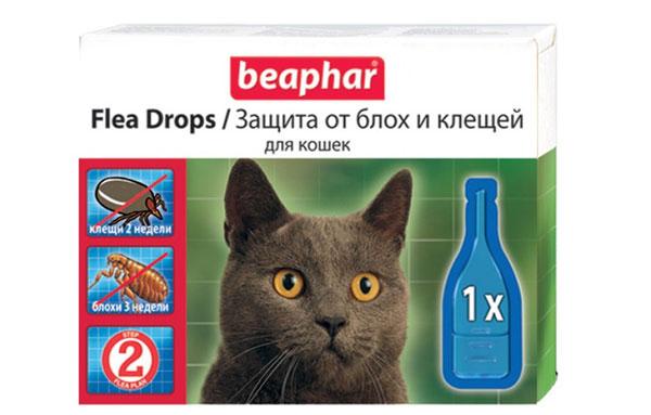 капли от блох для кошки Беапфар