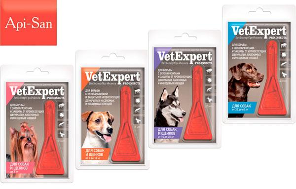 капли от блох ВетЭкспертПро Инсекта для собак и щенков