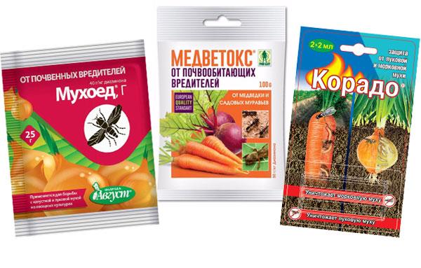Химические препараты от луковой мухи