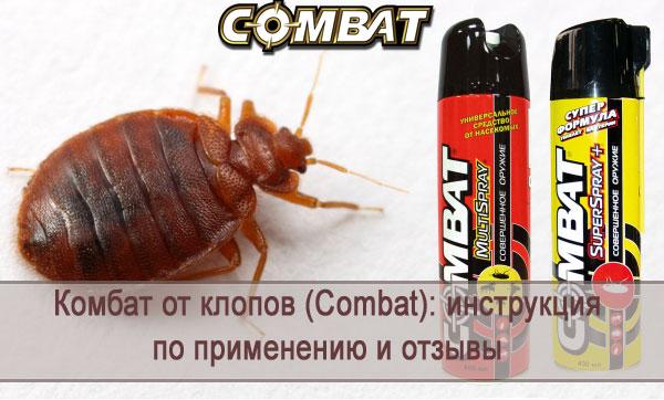 Обзор средства от клопов Комбат (Combat): инструкция по применению, отзывы