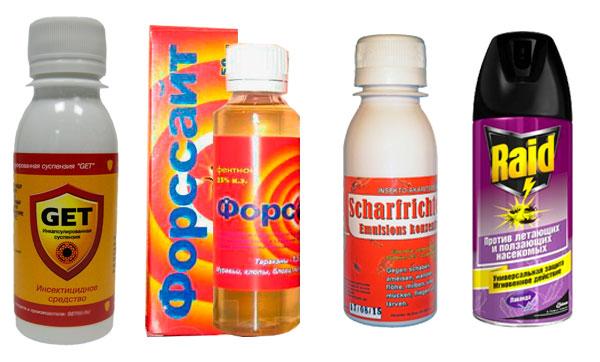химические препараты против клопов
